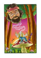 Tommy Chong in Wonderland by blackcat906