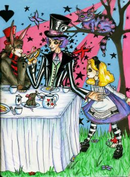 A Mad Tea Party by chocolatehomicide