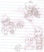 Smash Bros - Chibi Little mac doodles by ChibiKirbylover