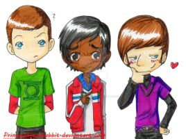 sheldon, raj and howard by PrincessBlackRabbit