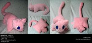 Mew pillow pet by Neon-Juma