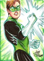Green Lantern card by mainasha