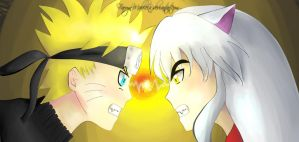 Inuyasha VS Naruto by FarrynMable