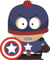 South Park - Stan - Captain America by RobotHellboy1114