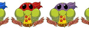 Pizza Lovers by Inked-Alpha