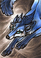 ACEO BlueHunter by CanisAlbus