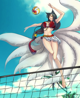 League of Legends: Ahri by An2010Dn