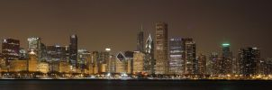 Chicago Night Lights by cougarbandit