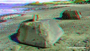 Cramond island weights (3d anaglyph red/blue) by waigy