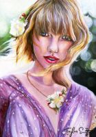 Taylor Swift Painting by PrehistoricGiraffe