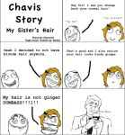 Chavis Story: My Sister's Hair by ChavisO2