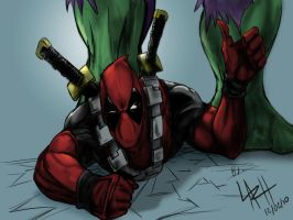 Deadpool Smashing by LaRhsReBirTh