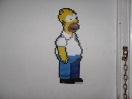 Homer Simpson beadsprite done by dylrocks95