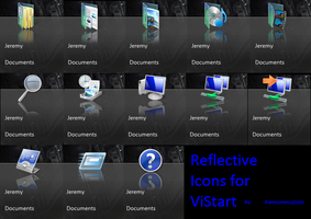 ViStart Reflection icons by awesomeo4000