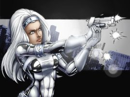 Silver Sable. Coloured. by Scorch-D