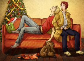Secret Santa for khallandra - Dave and Sissy by tea-brain