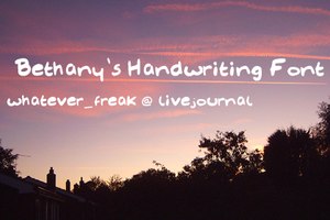 Bethany's Font by whatever-freak