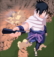 Sasuke Enters the Battlefield by LordSarito