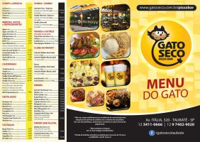 Menu do Gato Seco Pizza Bar by juliofantasma