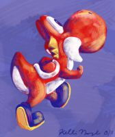 Red Yoshi by Cheese-is-tasty