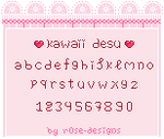 Kawaii Desu - Pixel Font - Now downloadable by r0se-designs