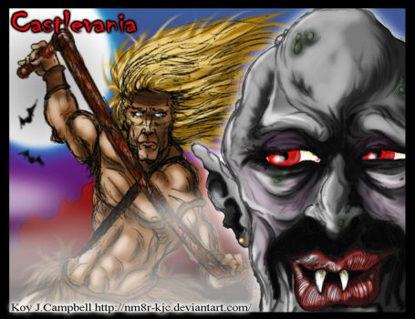 Castlevania Trevor vs Dracula video game fan art K by NM8R-KJC