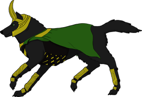 Wolf Loki - Happy Late Birthday Saory by Endless-Fall