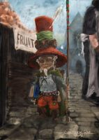 Gnome at a Fruit Stand by Gembicki
