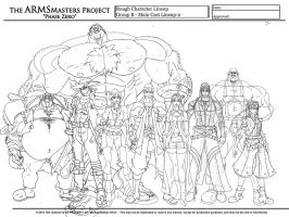 ARMSmasters Char Lineup B by mikewinn