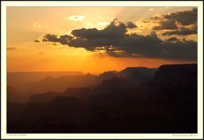 Canyon Sunset by Rhavethstine