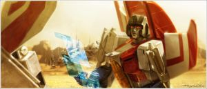 Skyfire and Starscream by Xiling