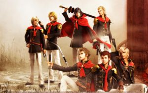 FF Type-0 Boys by SilverCat-sama