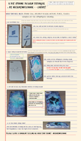 Watercolour DIY Iphone case (EXPECTO PATRONUM) by Nickmynotebook