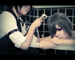 Cosplay Ciel and Sebastian01 by GothicaEmpress