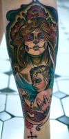 mother and son dia de los muertos by tattooneos