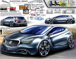 Jaguar Shooting Brake Design Concept by toyonda