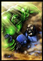 Hulk vs Apocalypse Colored by rapnex