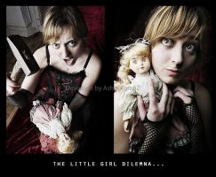 The little girl dilemna by AsHeFTgrafiZ