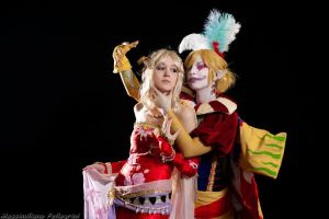Terra and Kefka by FreakySpikyHead