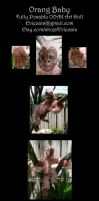 Orang Baby Posable art Doll by Eviecats