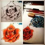 Rose tattoo flash by lostfloss