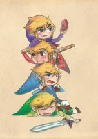 The Legend Of Zelda - Four Swords by Tokiiolicious