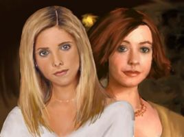 Buffy and Willow by DryEyez