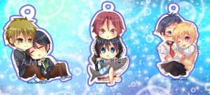 -- Free chibi keychains : Couples type -- by Kurama-chan