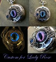 Custom for Lady Rose - Colorshift Silver Watch by LadyPirotessa