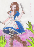 Cana American McGee's Alice outfit by Juviaaa