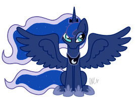 Princess Luna by FlutternutPie