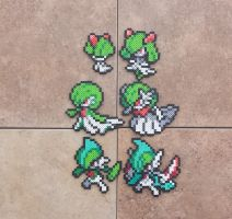 Ralts Family v.2 - Pokemon Perler Bead Sprites by MaddogsCreations