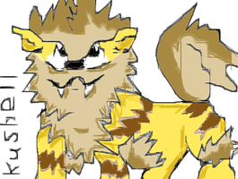 Mouse Muro Draw 5 - Shiny Arkani/Arcanine - by Kushell