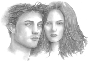 Twilight Edward and Bella by amerakat